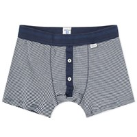 Schiesser Karl Heinz Striped Boxer Short Blue