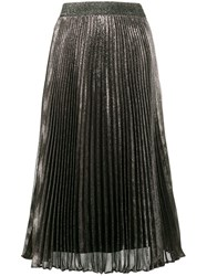Christopher Kane Pleated Midi Skirt Pink Purple