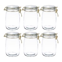 The Kitchen Pantry Glass Preserving Jars Set Of 6 Clear