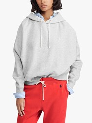 Ralph Lauren Polo Fleece Back Drawcord Hoodie Light Sport Heather