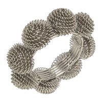 Amara Domed Wire Napkin Rings Set Of 4 Silver