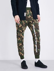 Aape By A Bathing Ape Camouflage Printed Mid Rise Jersey Jogging Bottoms Grz