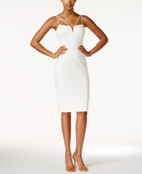 Guess Strappy Sweetheart Bodycon Dress Ivory