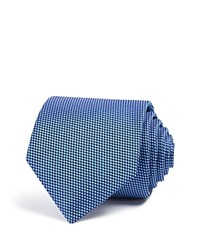 Eton Of Sweden Dotted Classic Tie Light Blue White