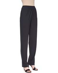Eskandar Narrow Stretch Wool Trousers Coal Grey