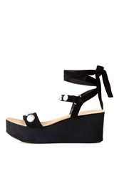 Topshop Wicked Stud Wedge Sandal Black