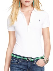 Ralph Lauren Polo Julie Skinny Fit Stretch Polo Shirt White