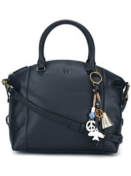 Tory Burch Hanging Tassel Tote Blue