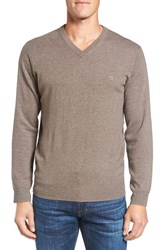 Rodd And Gunn Men's 'Inchbonnie' Wool Cashmere V Neck Sweater Taupe
