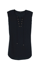 Tibi Bibelot Sleeveless Sailor Top