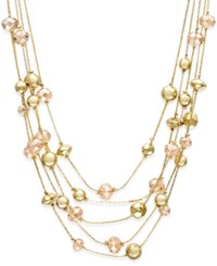 Styleandco. Style And Co. Gold Tone Five Row Beaded Necklace Only At Macy's