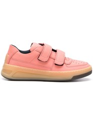 Acne Studios Steffey Nubuk Leather Sneakers Pink
