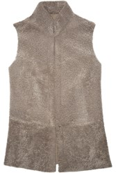 Iris And Ink Abbie Shearling Gilet Nude