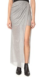 The Hours Wrap Maxi Skirt Heather Grey