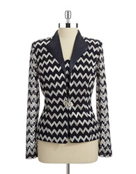 Cachet Two Piece Chevron Cardigan Navy