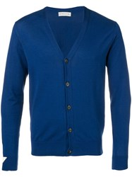 Etro Fitted Cardigan Blue