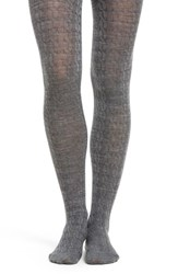 Smartwool Women's Cable Knit Tights Medium Gray