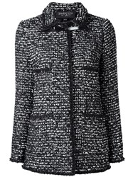 Giambattista Valli Long Tweed Jacket Black