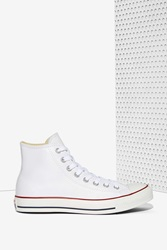 Nasty Gal All Star High Top Sneaker White Leather