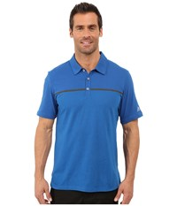 Adidas Climacool Aeroknit Jersey Polo Eqt Blue Shock Blue Men's Short Sleeve Pullover