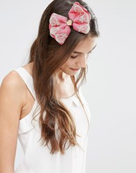 Johnny Loves Rosie Ally Oversize Bow Headband Pink Cream