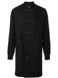 Y 3 Ribbed Neck Duffle Coat Black