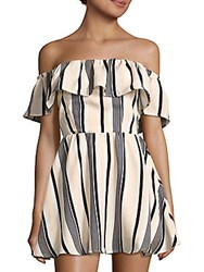 Lucca Couture Ruffled Off The Shoulder Dress White
