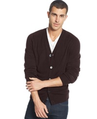 Weatherproof Soft Touch Cardigan Sweater Bordeaux