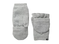 Plush Fleece Lined Texting Mittens Heather Grey Dress Gloves Gray