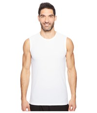 Columbia Diamond Mesh Muscle Tee White Men's T Shirt