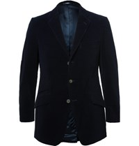 Cordings Blue Duke Cotton Corduroy Blazer Navy