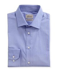 Armani Collezioni Striped Modern Fit Dress Shirt Purple