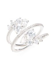 Nadri Cubic Zirconia Tiered Cluster Ring Silver