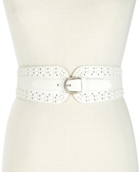 Inc International Concepts I.N.C. Laced Stretch Waist Belt Created For Macy's White