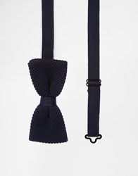 Minimum Knitted Bow Tie Blue