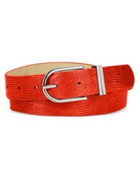 Styleandco. Style Co. Lizard Embossed Double Keeper Belt Only At Macy's Red