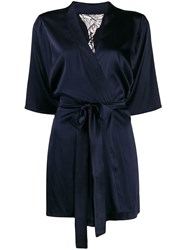 Fleur Of England Midnight Short Robe Blue