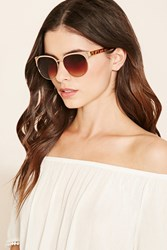 Forever 21 Metal Browline Sunglasses