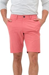 7 Diamonds Men's Hybrid Shorts Coral