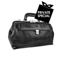 Chiarugi Genuine Italian Leather Doctor Bag Black