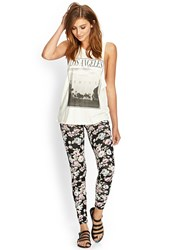 Forever 21 Soft Floral Leggings