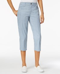 Style And Co Petite Striped Capri Pants Only At Macy's Slit Stripe