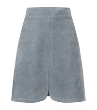 See By Chloe Suede Split Hem Mini Skirt Female Grey
