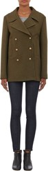 Barneys New York Solid Peacoat Green Size 38 It