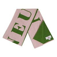 Semaine Luke Edward Hall X With Hades Flaneur Wool Scarf In Pink And Green