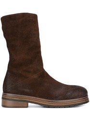 Marsell Mid Calf Boots Brown