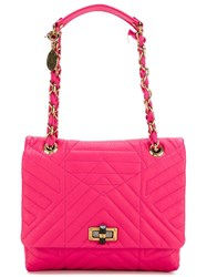 Lanvin Medium 'Happy' Shoulder Bag Pink And Purple