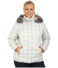 Columbia Plus Size Mercury Maven Iv Jacket Sea Salt Plaid Women's Coat White