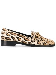 Versace Medusa Leopard Loafers Nude And Neutrals