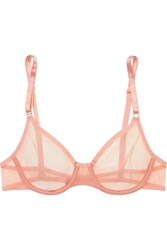 Yasmine Eslami Jeanne Stretch Tulle Underwired Soft Cup Bra Antique Rose